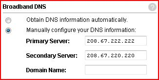 2Wire Router Settings DNS