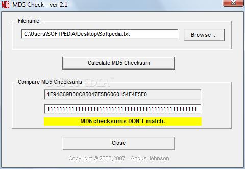 MD5 Check
