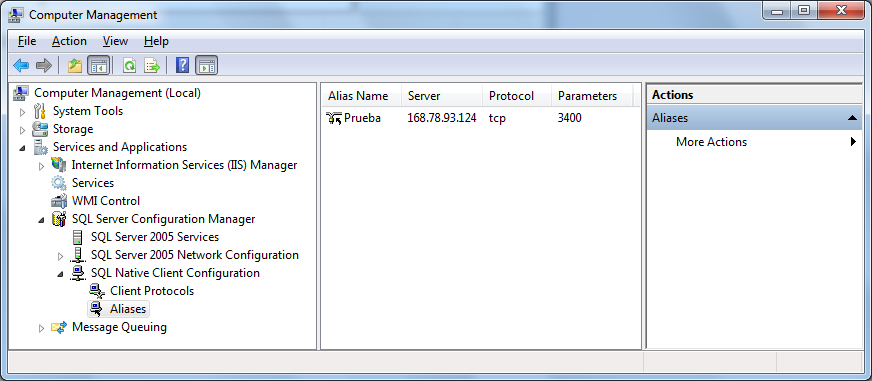 SQL Server Configuration Management  - Aliases