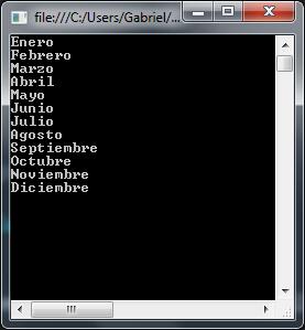 Nombres de meses en objeto CultureInfo