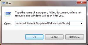Paso 3 - Abrir archivo de hosts con notepad