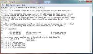 Paso 4 - Pegar lineas en el archivo de hosts