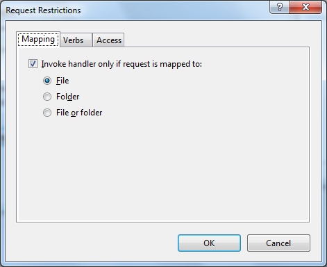 Request Restrictions para el Module Mapping de SSI