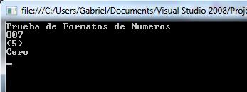 Formatos condicionales en .NET usando ToString()