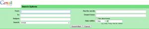 Parametros de busqueda de Gmail