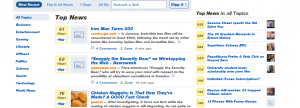 En Digg, por ejemplo, no se veian simbolos raros pero toda la pagina aparecia en bold.