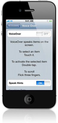 iPhone Voice Over